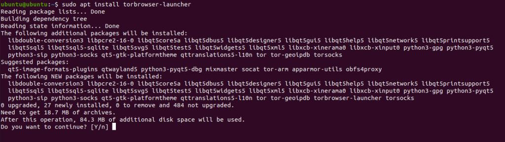 1.- Install Tor browser on Ubuntu 20.04