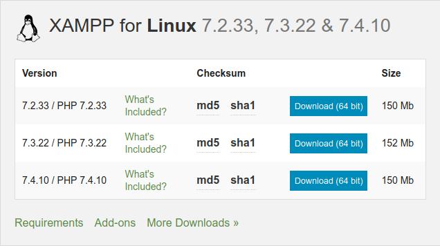1.- Download XAMPP on Ubuntu 20.04 / Debian 10