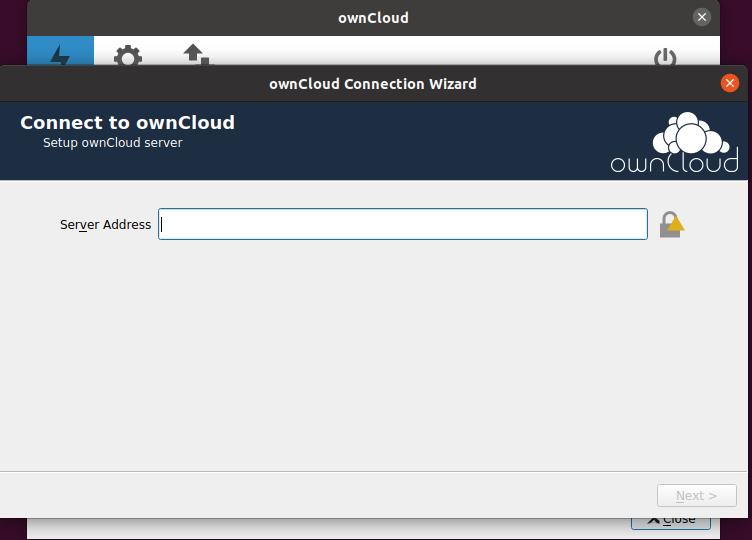 2.- Configuring the Owncloud desktop on Ubuntu 20.04