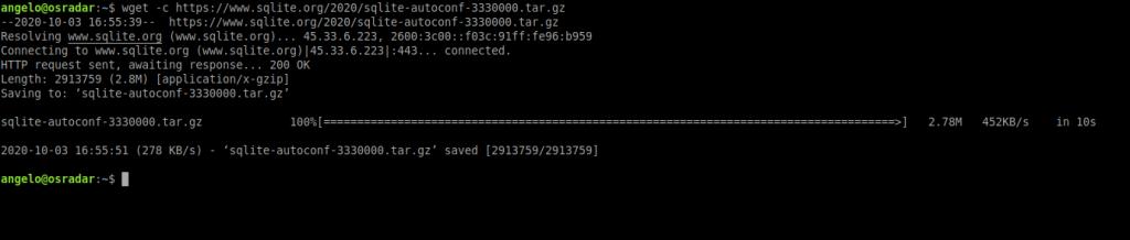 2.- Downloading SQLite source code