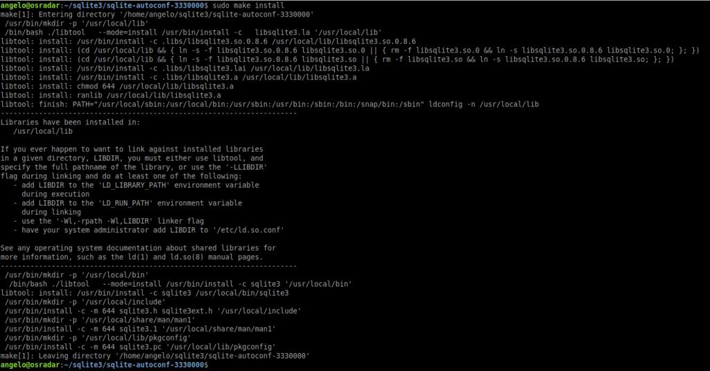 3.- Installing the latest version of SQLite on Ubuntu 20.04