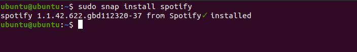 3.- Install Spotify using snap