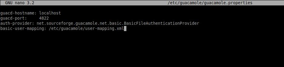 4.- Configuring Apache Guacamole on Debian 10