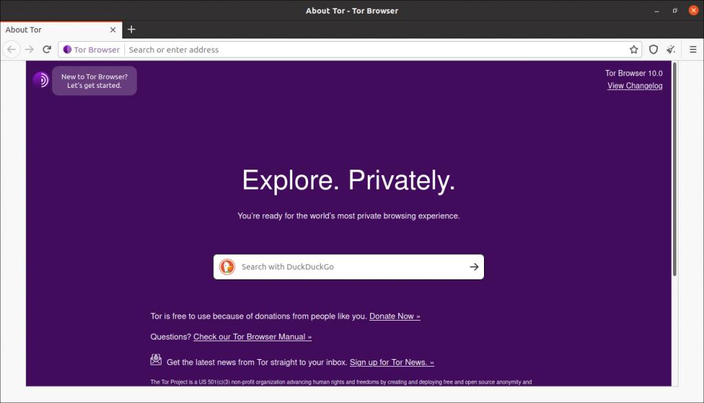 5.- Tor Browser on Ubuntu 20.04