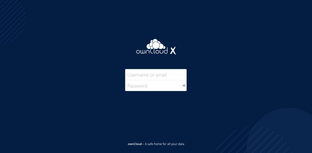5.- Owncloud login screen
