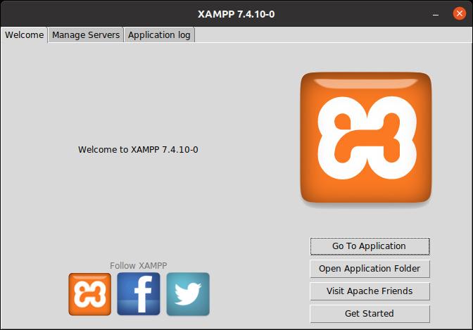 7.- XAMPP main screen