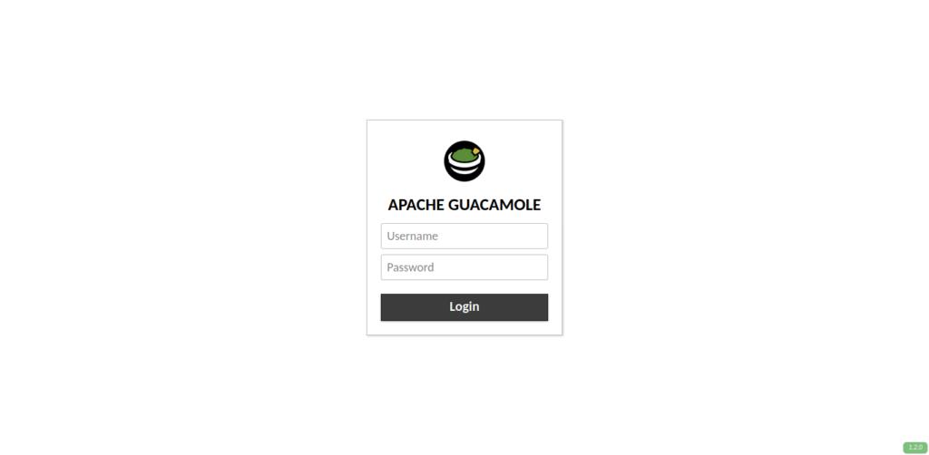 8.- Apache Guacamole Web interface