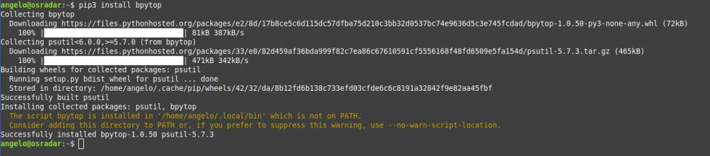 1.- Install BpyTop on Ubuntu / Debian