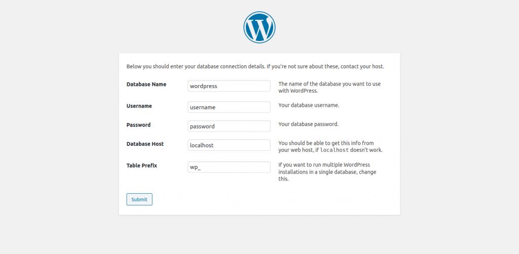 11.- Configuring the WordPress Database