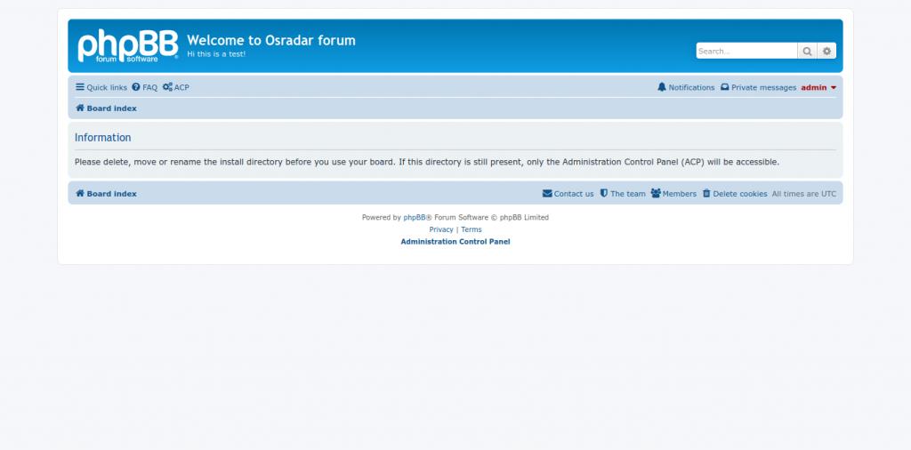 11.- Create a forum with phpBB on Ubuntu 20.04