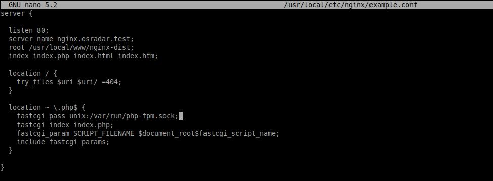 2.- Creating a new Serverblock on Nginx