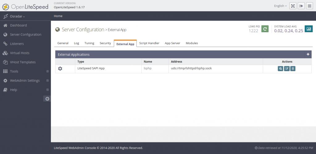 3.- Configuring OpenLiteSpeed on CentOS 8