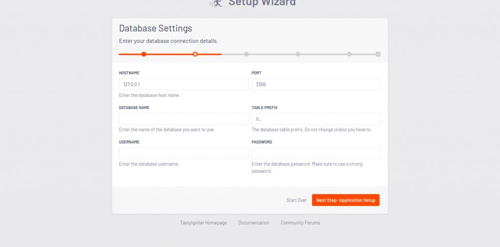 5.- Database Settings