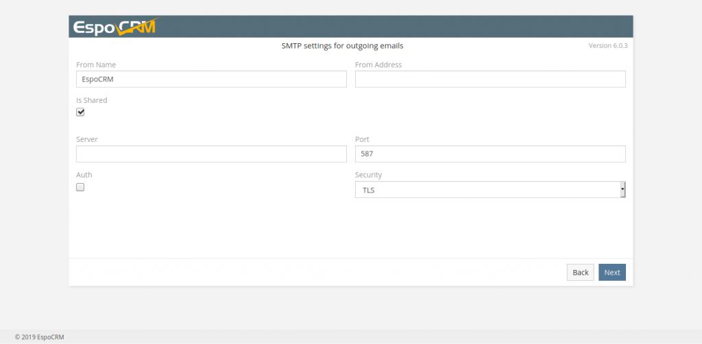8.- SMTP settings