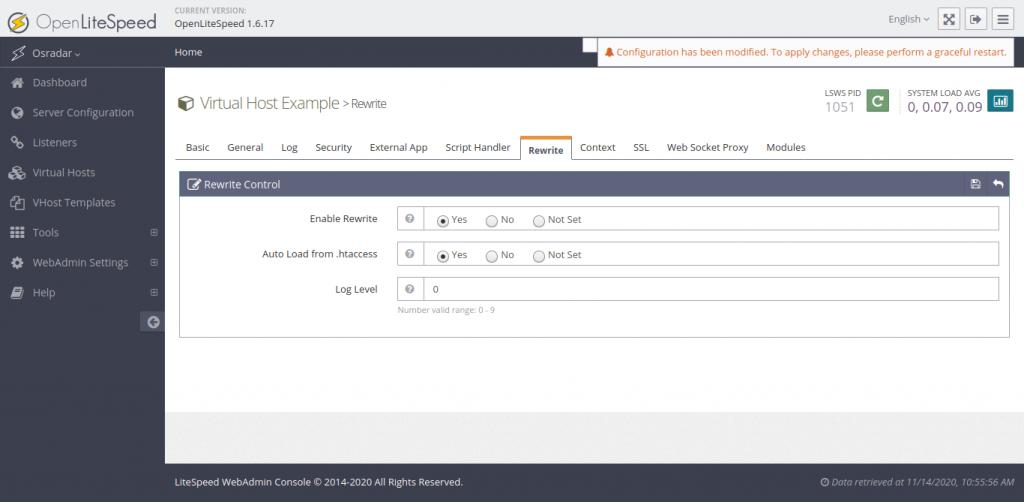 8.- Configuring OpenLiteSpeed