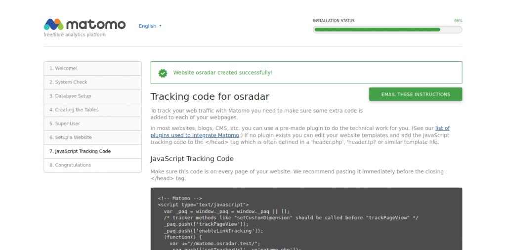 8.- Tracking code for osradar