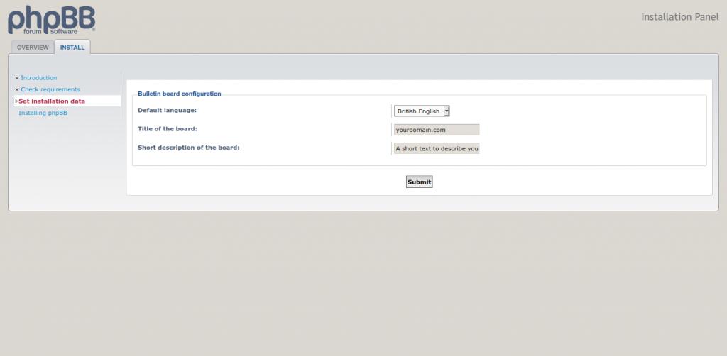 8.- Installing phpBB on Ubuntu 20.04