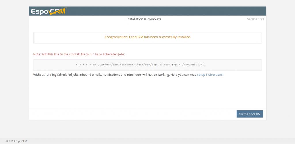 9.-EspoCRM installed on Ubuntu 20.04