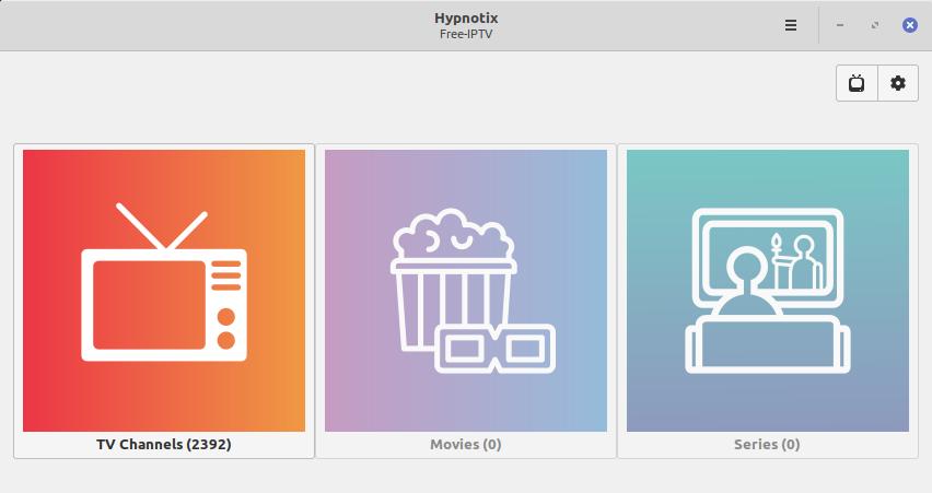 1.- Hypnotix on Linux