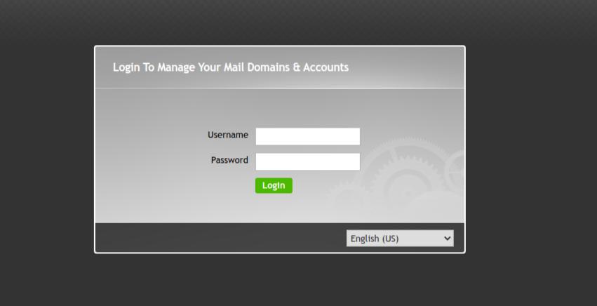 11.- iRedMail admin login screen