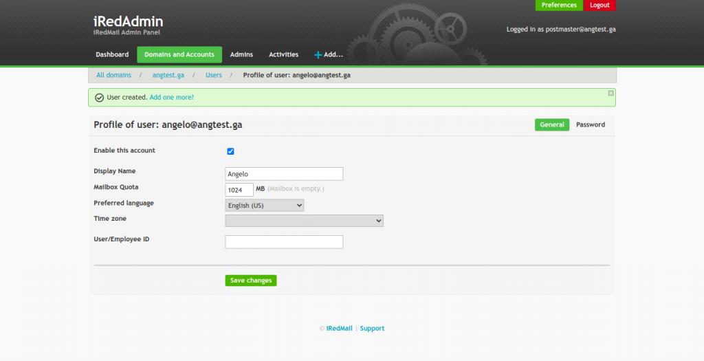 14.- User profile