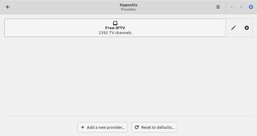 4.- Adding a new IPTV provider