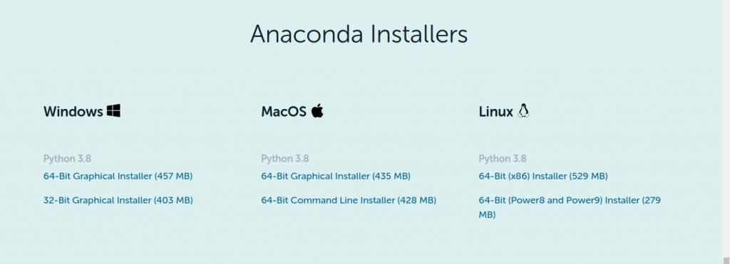 1.- Download Anaconda