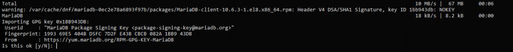 2.- Installing MariaDB 10.6 on Rocky Linux 8 / AlmaLinux 8 / CentOS 8