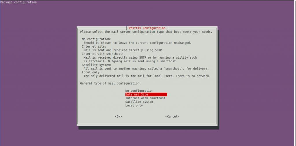 1.- Configuring Postfix