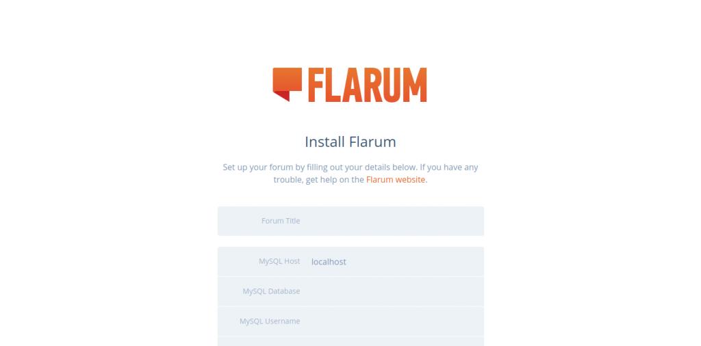 2.- Install Flarum Forum on Ubuntu 20.04