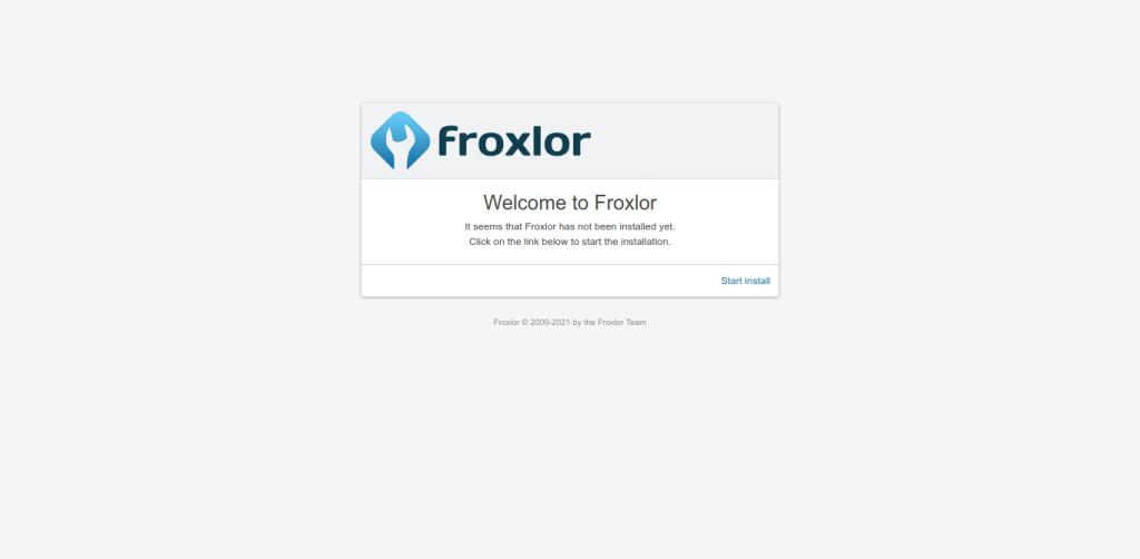 2.- Floxlor welcome screen