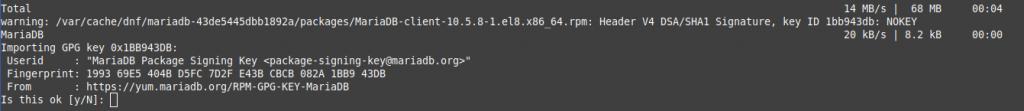 2.- Installing MariaDB 10.5 on CentOS 8