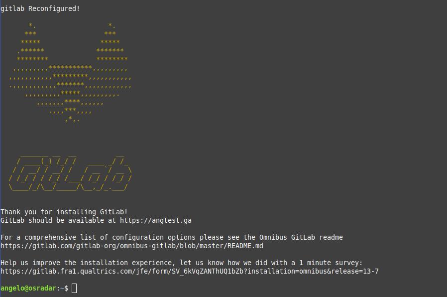 3.- Gitlab installed on Ubuntu 20.04