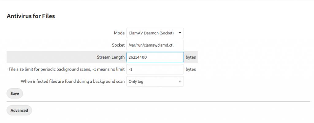 Configuring ClamAV on Nextcloud
