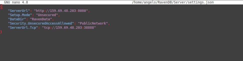 2.- Configuring RavenDB