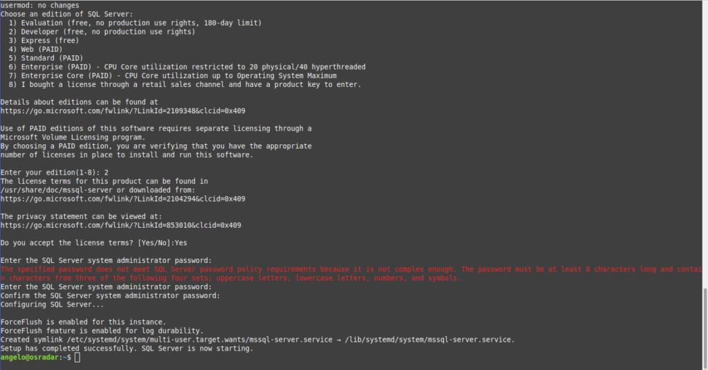 1.- Install Microsoft SQL Server on Ubuntu 20.04 / Debian 10