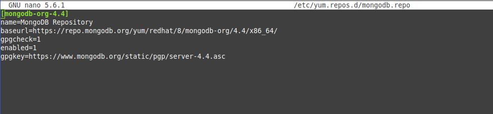 Configuring the MongoDB repository