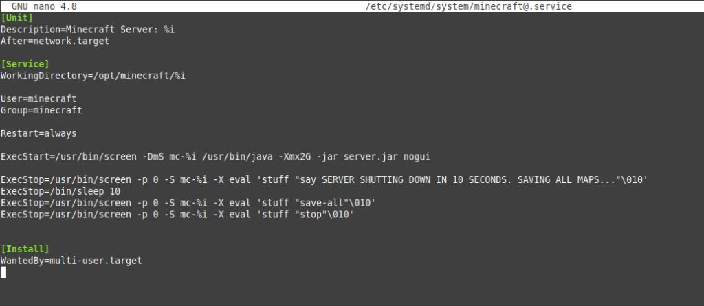1.- Install Minecraft server on Ubuntu 20.04