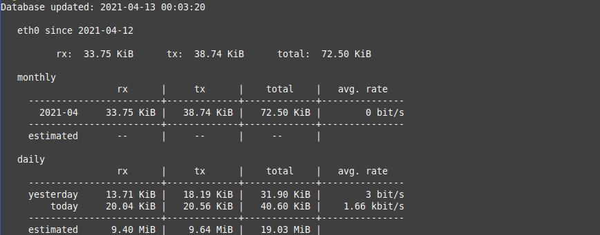1.- vnStat on Debian 11/ 10