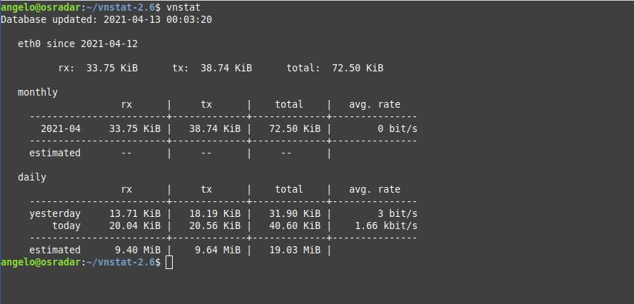 1.- vnStat on Debian 10