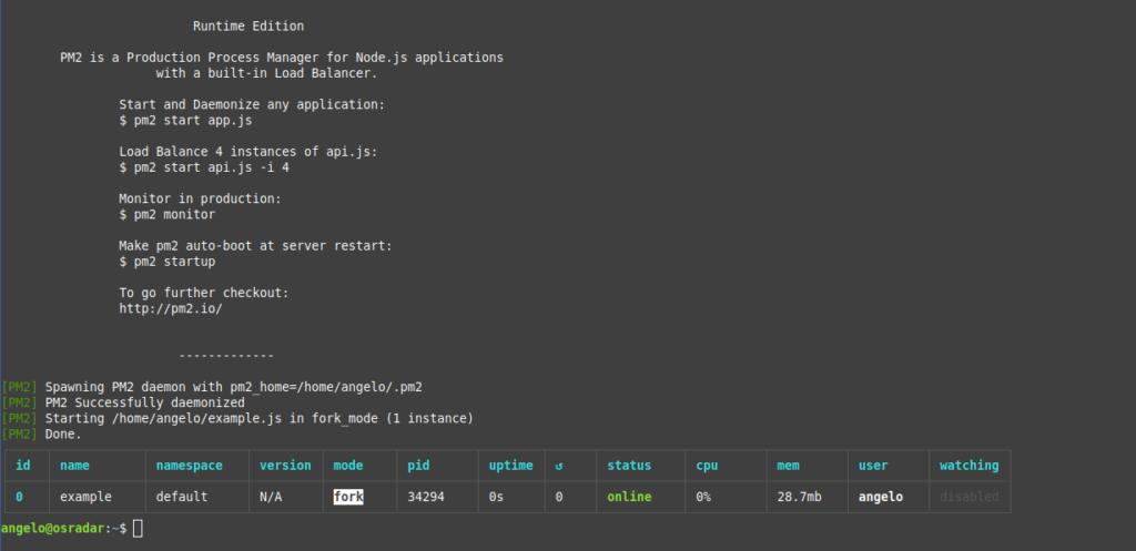 1.- Running the NodeJS application
