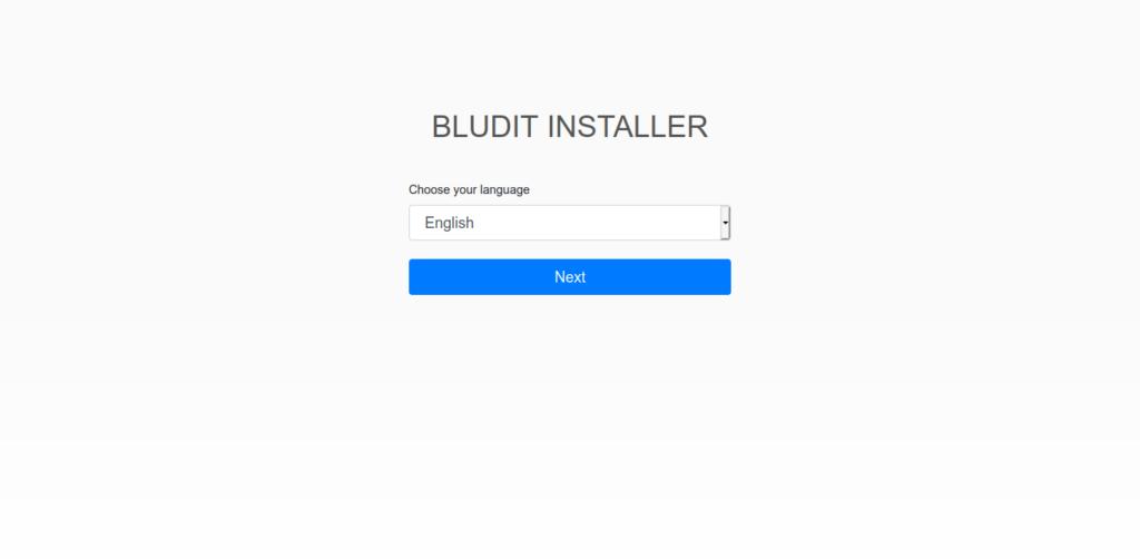 2.- Bludit CMS installer