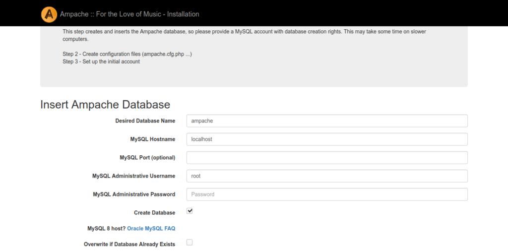 2.- Ampache using Docker