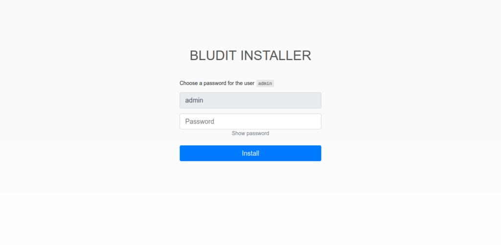 3.- Installing Bludit CMS