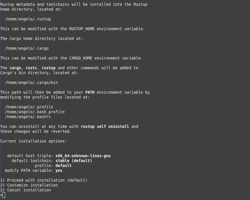 1.- Install Rust on Fedora 34