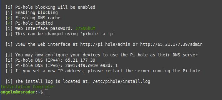 10.- PiHole installed