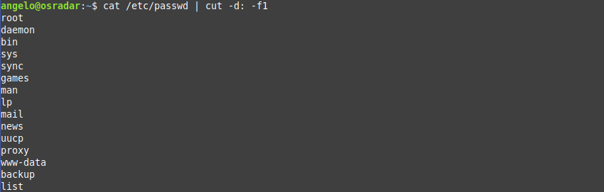 2.- List users in Linux