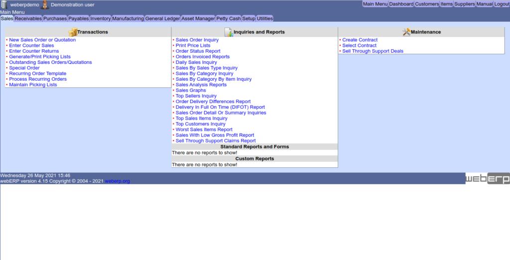 6.- WebERP on AlmaLinux 8.4 / CentOS 8
