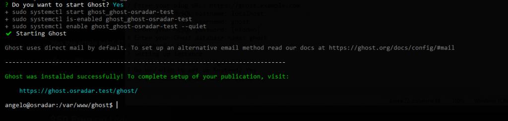 1.- Installing Ghost CMS on Ubuntu 20.04