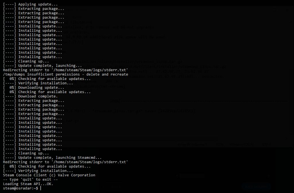 1.- Installing SteamCMD on Ubuntu 20.04